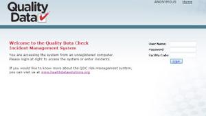 QDC - login screen